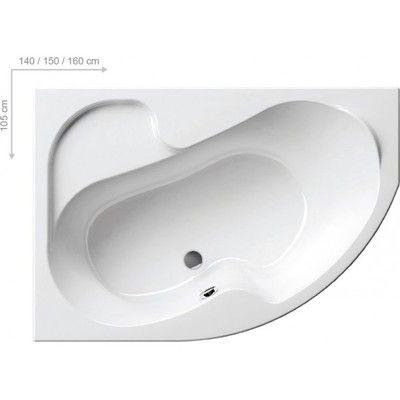 Акриловая ванна Ravak Rosa I 140 x 105 L левосторонняя цена