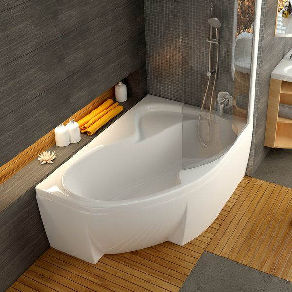 Акриловая ванна Ravak Rosa II PU Plus 150 x 105 R правосторонняя