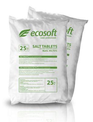 Таблетированная соль ECOSOFT 25 кг цена