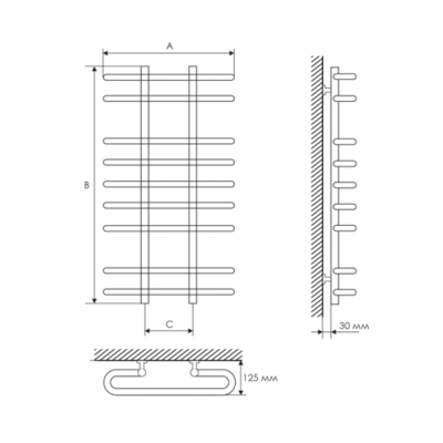 Полотенцесушитель Laris Сахара П7 500х700 mm цена