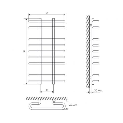 Полотенцесушитель Laris Сахара П9 500х900 mm