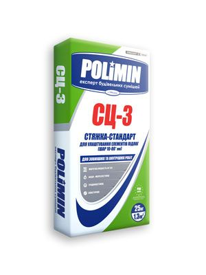 Polimin СЦ-3 цементная стяжка М150, слой 10-80 мм цена
