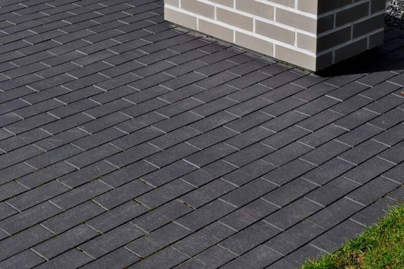 Тротуарная плитка Кирпич Стандартный (черный) 200х100 для пешеходной зоны (4 см)