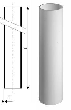Труба канализационная без раструба Ostendorf Skolan SKGL DN 125*3000 мм