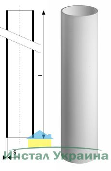 Труба канализационная без раструба Ostendorf Skolan SKGL DN 150*3000 мм