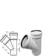 купить Ostendorf SKOLAN для внутр. канализации Тройник 50/50*45°