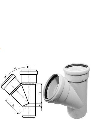 Ostendorf SKOLAN для внутр. канализации Тройник 100/100*45° цены