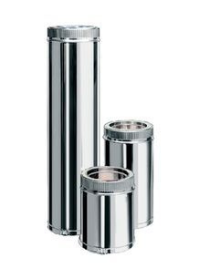 EWO Smoke Труба из нержавеющей стали AISI 321 с термоизоляцией в нержавеющем кожухе L=1,0м н/н 0,8мм ф100/160