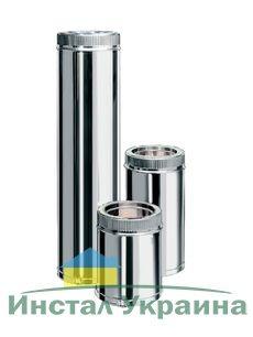 EWO Smoke Труба из нержавеющей стали AISI 321 с термоизоляцией в оцинкованном кожухе L=0,5м н/оц 1,0мм ф300/360