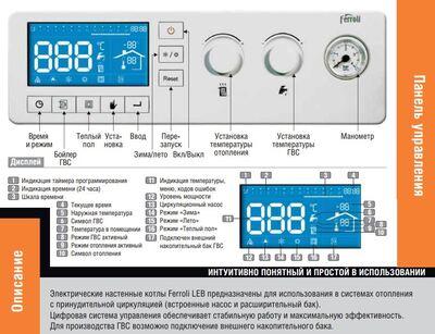 Котел электрический Ferroli LEB 18.0-TS цена