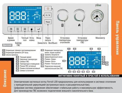 Котел электрический Ferroli LEB 7.5-TS цены