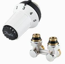 Danfoss Комплект для нижнего подключения радиаторов Panda M30X1,5 RLV-KS RAЕ-К G 3/4`x R 1/2` угловой