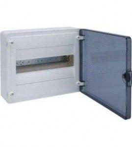 HAGER Щит навесной Golf 1 ряд 8 модулей прозрачные двери (VS108TD)