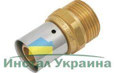 """KAN Соединитель Press c пресс-кольцом с наружной резьбой 25хG1"""" K-900004"""
