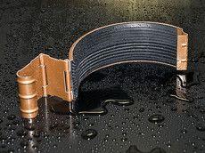 HyPro Соединительный элемент желоба ф 125 Матовая поверхность 8004 Терракотовый