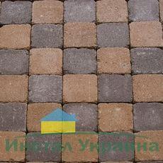Тротуарная плитка Квадрат Антик 160х160 (персиковый неполный прокрас) (9 см)