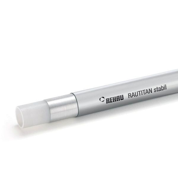 Труба Rehau Rautitan stabil (PE-X/AI/PE) 20х2,9 мм, бухта 100 м (130131-100)
