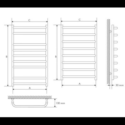 Полотенцесушитель Laris Стандарт П7 450х700 mm цена