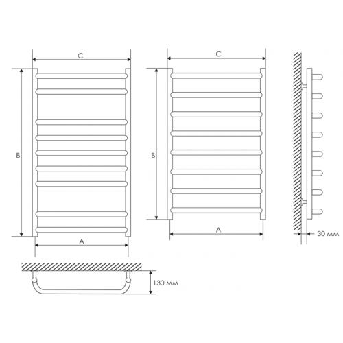 Полотенцесушитель Laris Стандарт П4 400х500 mm