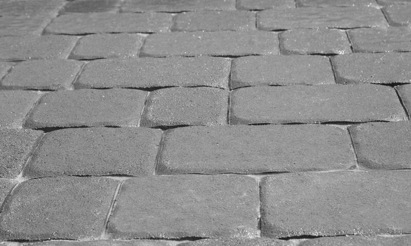 Тротуарная плитка Старая площадь 300х300 (серый) для пешеходной зоны (4 см)