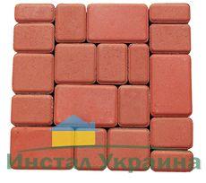 Тротуарная плитка Старый город (красный) для пешеходной зоны (4 см)