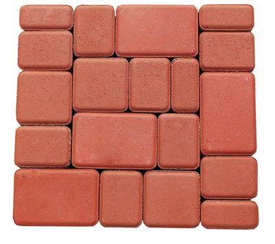 Тротуарная плитка Старый город (красный) для пешеходной зоны (4 см) цена
