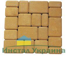 Тротуарная плитка Старый город (желтый) (8 см)
