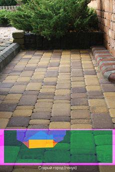 Тротуарная плитка Старый город (генуя) для пешеходной зоны (4 см)