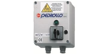 Пульт управления Pedrollo QEM 100 (однофазный) Мощность двигателя: 0,75 кВт (1 л.с.)