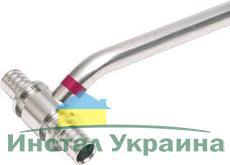 """TECEflex Трубка медная для подключения радиаторов, """"Т""""-подобная, никелированная, 16х15, L=330мм"""