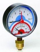 купить Термоманометр Д80 ааксиальное 1/2 R 10 бара