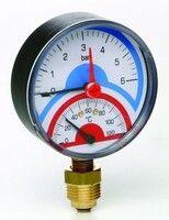 Термоманометр Д80 ааксиальное 1/2 R 10 бара