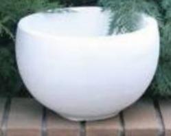 Бетонная ваза Терра 340х230 (белый)