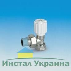 Кран радиаторный Pettinaroli угловой под мет-пластик. ВН 1/2`