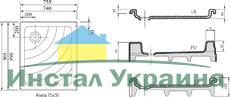 Душевой поддон Ravak серии Aneta 75x90 PU белый