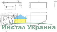 Акриловая ванна Ravak Asymmetric 170 x 110 L левосторонняя