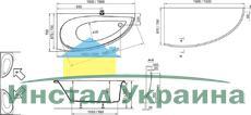 Акриловая ванна Ravak Avocado 150 x 75 L левосторонняя