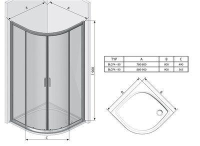 Душевой уголок Blix BLCP4-80 сатин+transparent цена