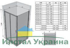 Душевые двери Blix BLDP2-110 R-L полированный алюминий+transparent