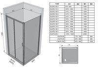 Душевые двери Blix BLDP4-120 полир.алюм.+Transparent