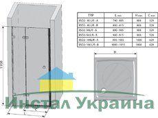 Душевые двери Brilliant BSD2-80 A-L левосторонняя хром+transparent