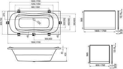 Акриловая ванна Ravak Campanula II 180x80 цены