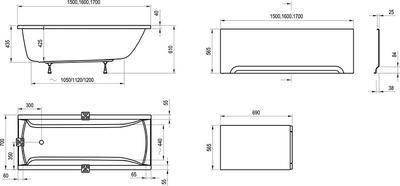 Акриловая ванна Ravak CLASSIC 170x70 N цены