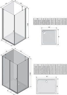 Неподвижная стенка Chrome CPS-100 полир. алюм.+Transparent