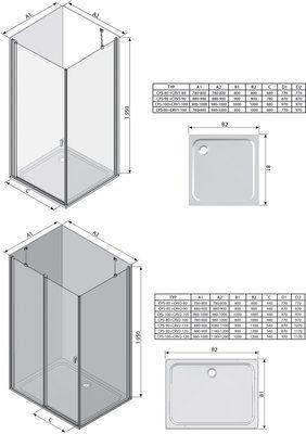 Неподвижная стенка Chrome CPS-100 белый+Transparent цена