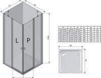 Душевой уголок Chrome CRV2-120 сатин+Transparent