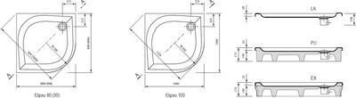 Душевой поддон Ravak серии Elipso-90 PAN белый цены