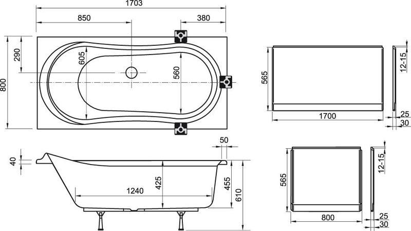 Акриловая ванна Ravak Fresia 170x80