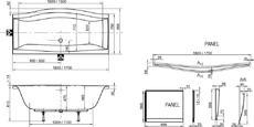 Акриловая ванна Ravak Magnolia 170x75