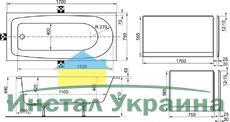 Акриловая ванна Ravak Nerida 170x75